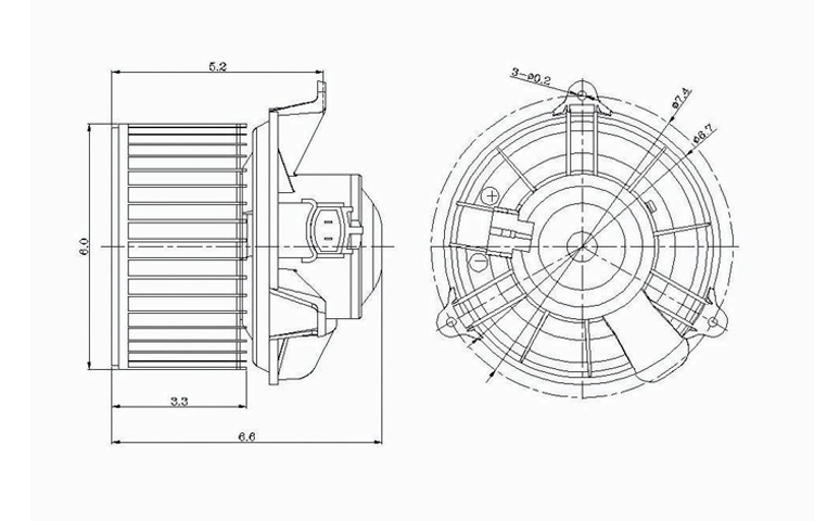Replacement Blower For Ford 97-08 F-150 03-06 Expedition
