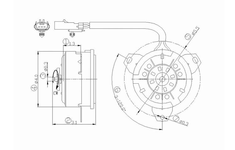 AC Condenser Radiator Cooling Fan Motor 2001-2007 Chrysler
