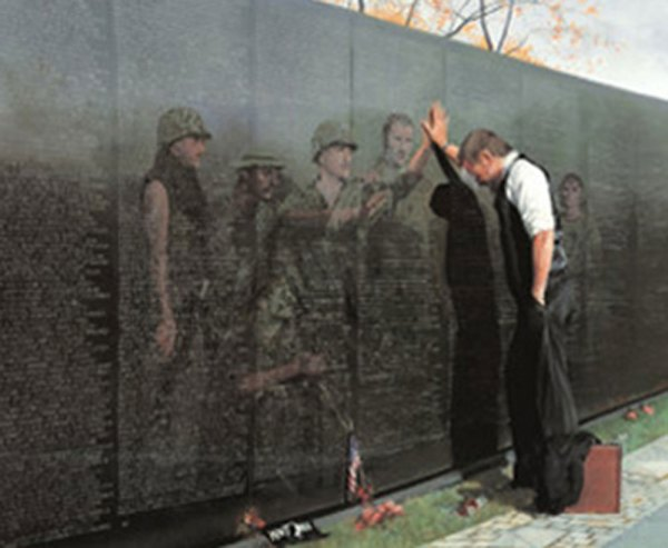 Reflections Lee Teter Military Vietnam Memorial Wall