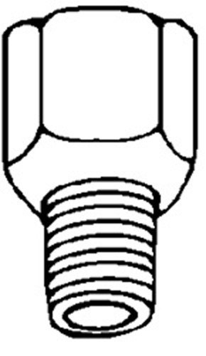 Clipsandfasteners Inc 5 Brass Male Connectors 1/4