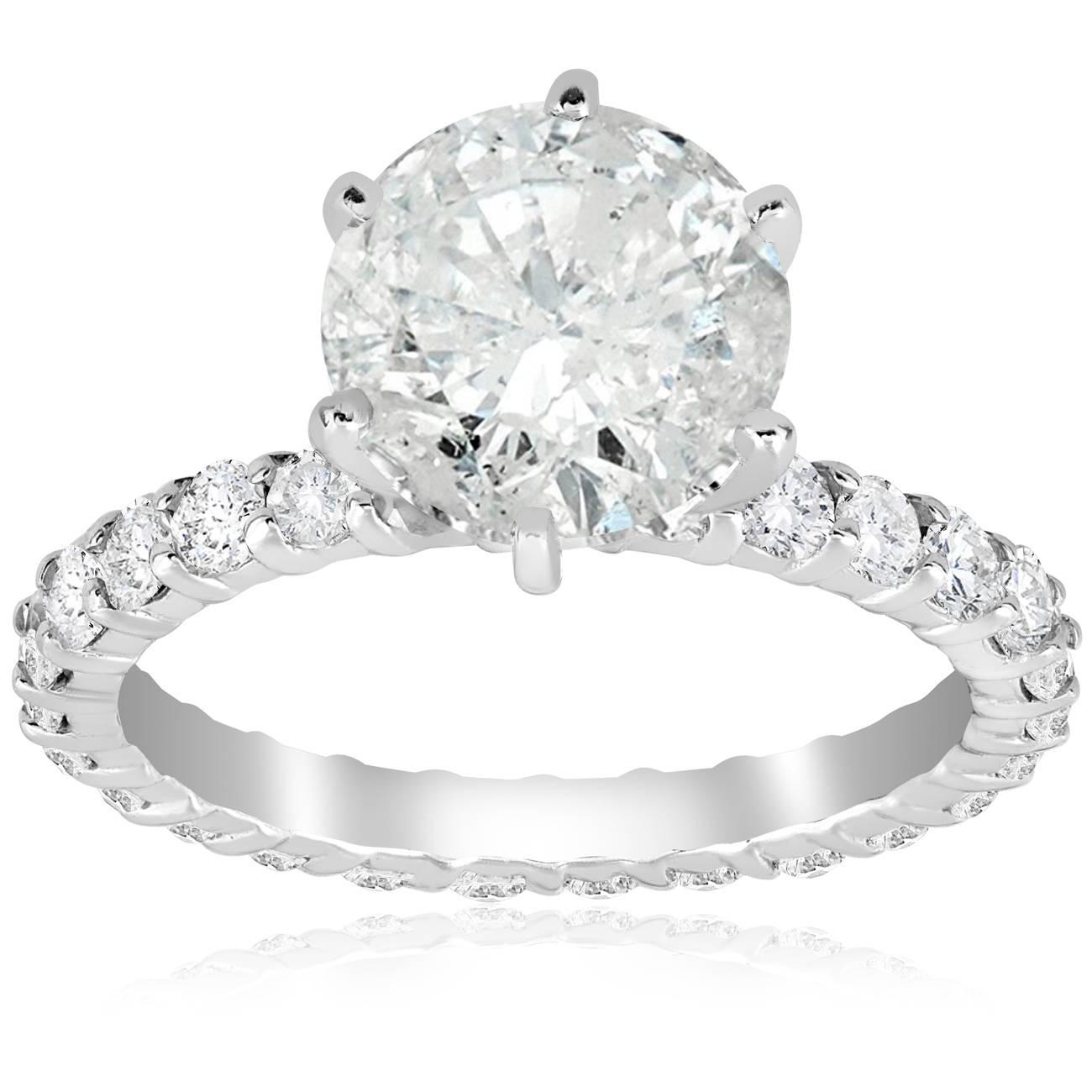 5 Carat Enhanced Diamond Engagement Eternity Ring 14k