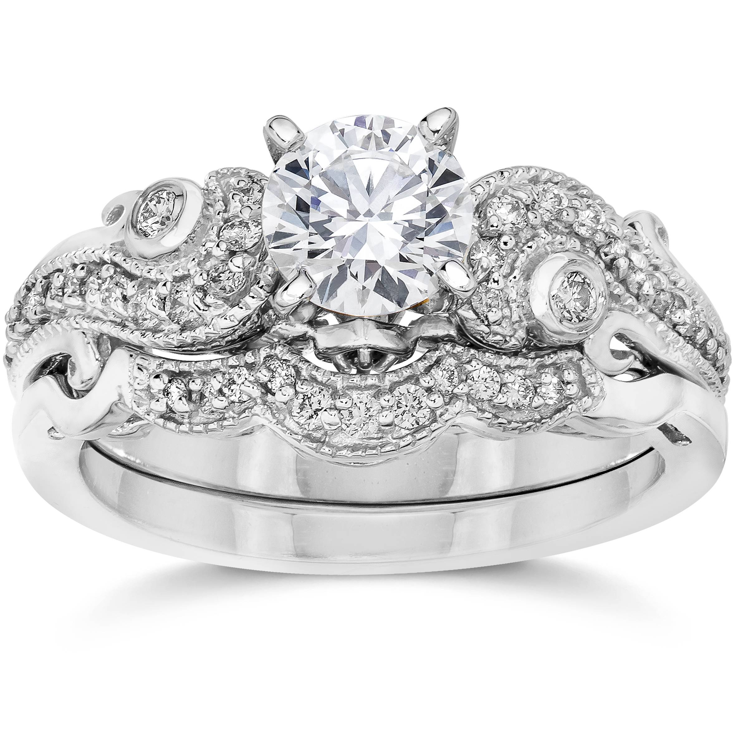 Emery 3/4Ct Vintage Diamond Filigree Engagement Wedding
