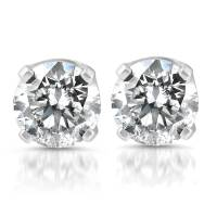 1/3 ctw 14k White Gold Diamond Stud Earrings | eBay