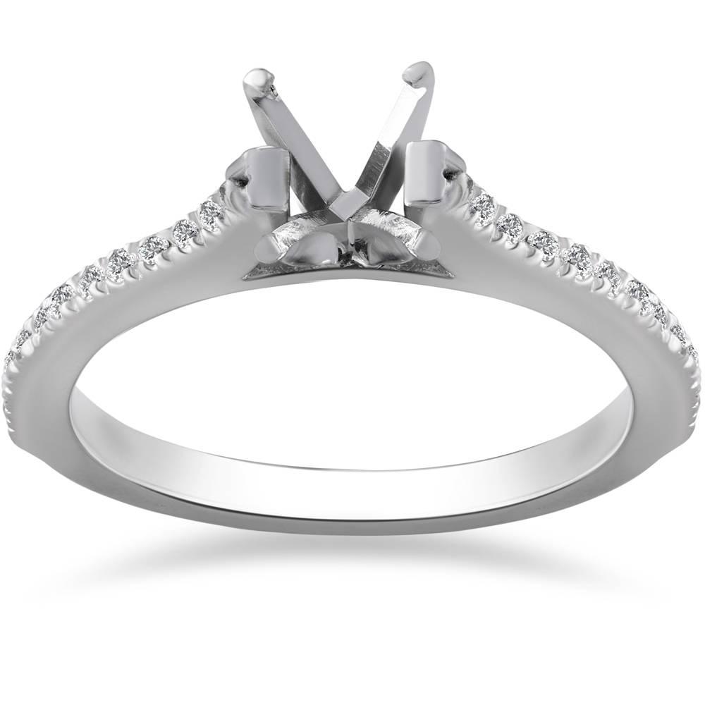 1/4ct Diamond Engagement Ring Setting 14K White Gold