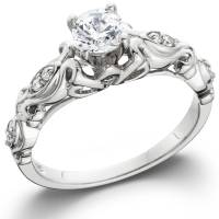 1/2ct Vintage Diamond Solitaire Engagement Ring 14K White ...