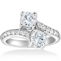 2 Carat Forever Us Two Stone Engagement Diamond Solitaire ...