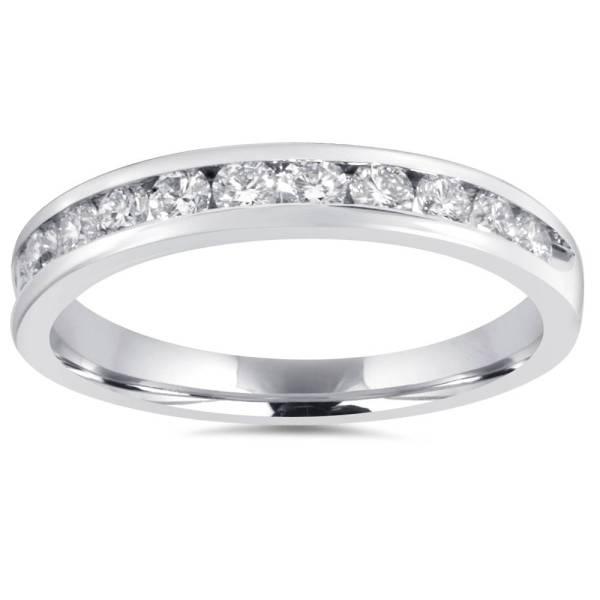 1 2ct Diamond Wedding Ring 10k White Gold