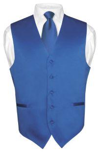 Men's Dress Vest NeckTie ROYAL BLUE Neck Tie Set for Suit ...