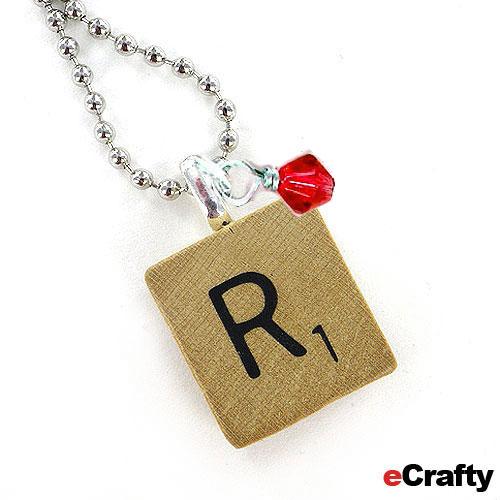 Scrabble Tile Necklace DIY