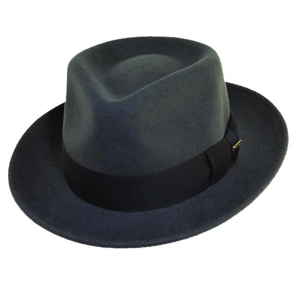 87eeca0ba Dorfman Pacific Men' Crushable Wool Felt Fedora Hat
