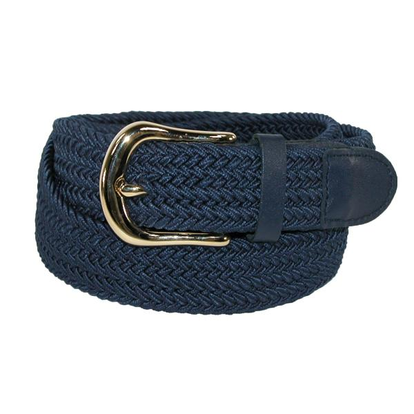 Ctm Men' Elastic Stretch Belt With Gold Buckle And