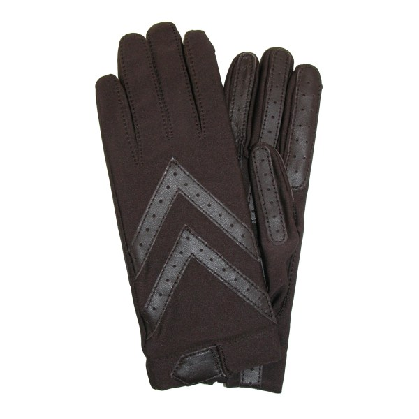Isotoner Women' Unlined Leather Palm Driving Gloves