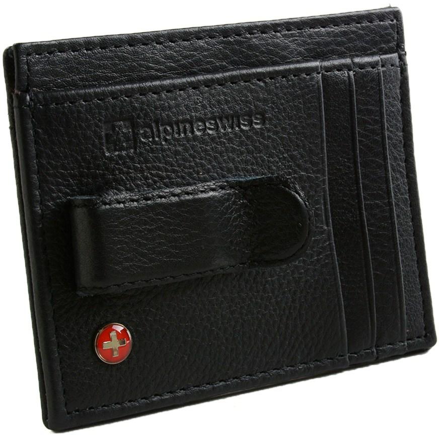 AlpineSwiss RFID Blocking Mens Money Clip Leather ...