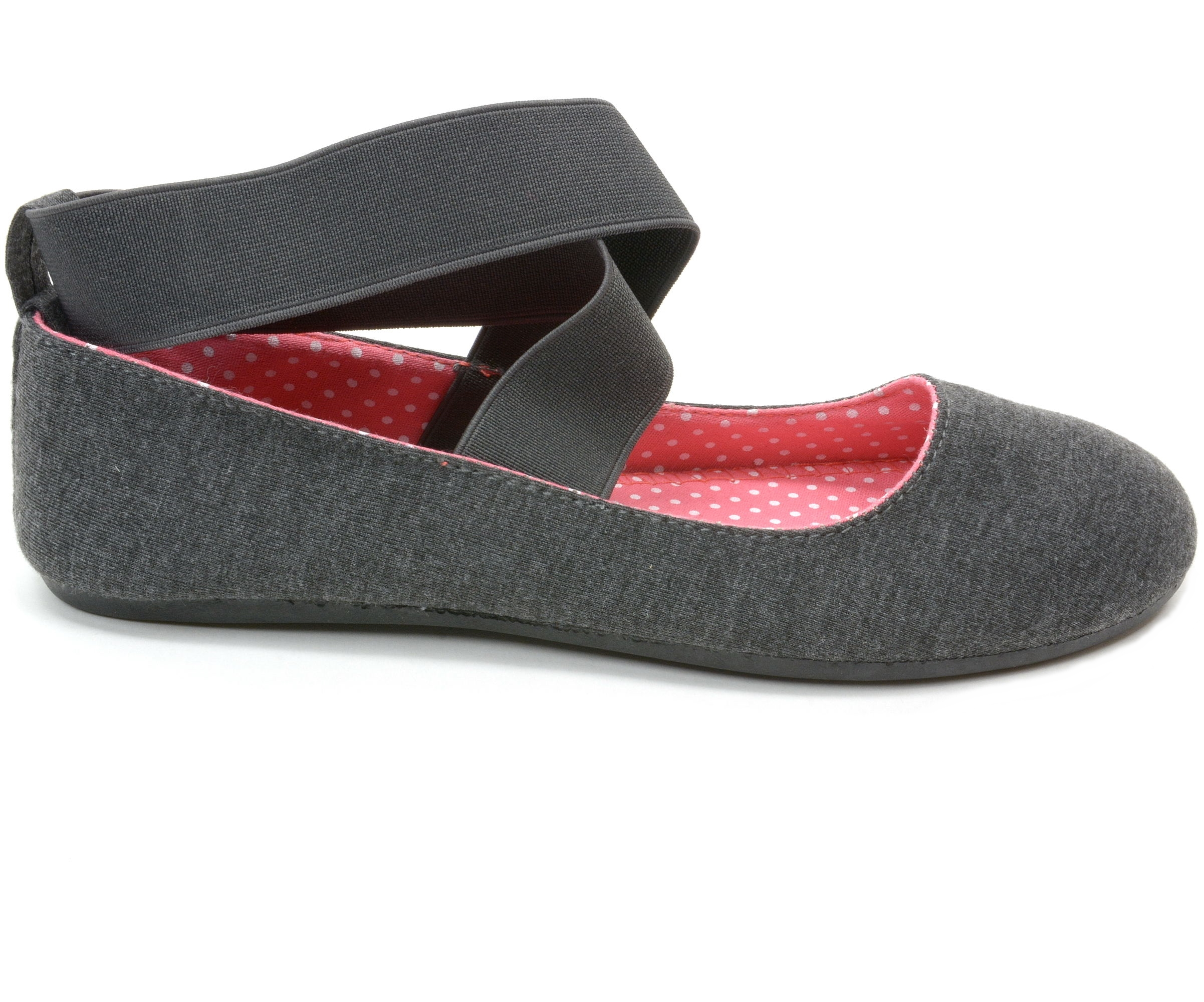 Black Mary Jane Flats Front