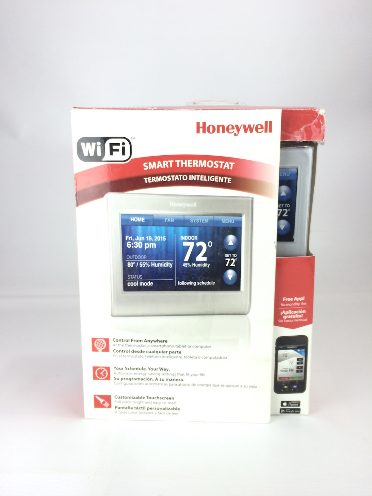 honeywell wifi thermostat kit calibre thermo fan wiring diagram smart silver rth9580wf ebay