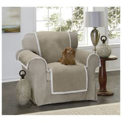 Taupe Chair Covers Patterned Wingback Reversable Sherpa Faux Suede Throw Cover Pet