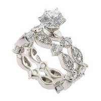 1.25 CT Round Cubic Zirconia Sterling Silver Vintage Style ...