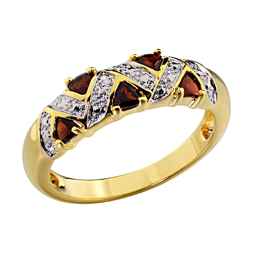 14k Gold Plated Women's Wedding Engagement Ring Trillion