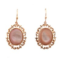 Rose Gold Plated Sterling Silver Pink Mother of Peal ...