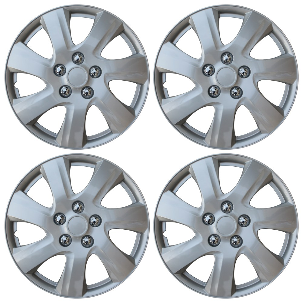 medium resolution of new set of 4 hub caps fits toyota camry 15 universal abs silver wheel cover cap