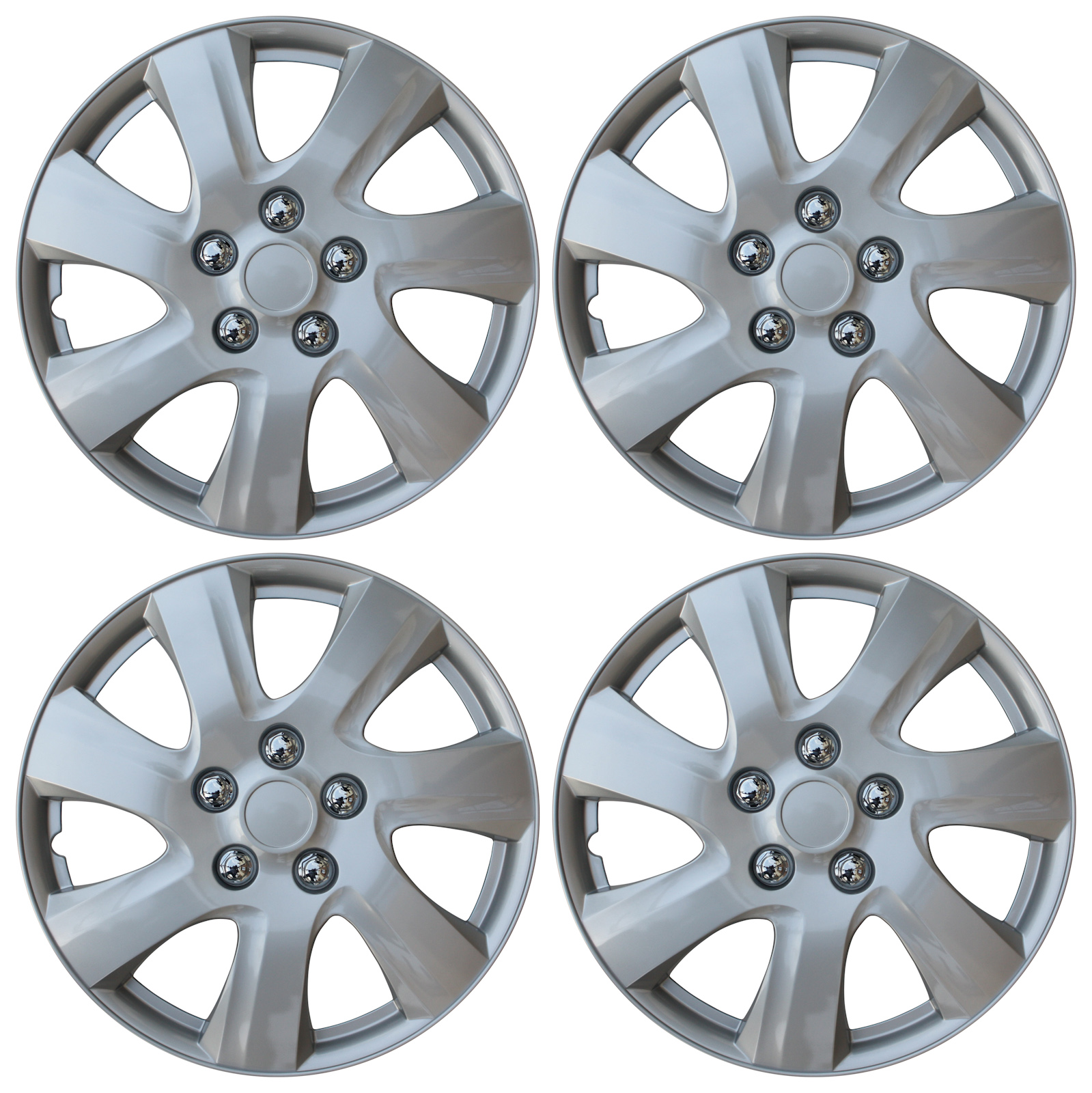 hight resolution of new set of 4 hub caps fits toyota camry 15 universal abs silver wheel cover cap