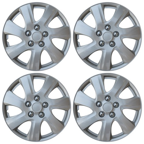 small resolution of new set of 4 hub caps fits toyota camry 15 universal abs silver wheel cover cap
