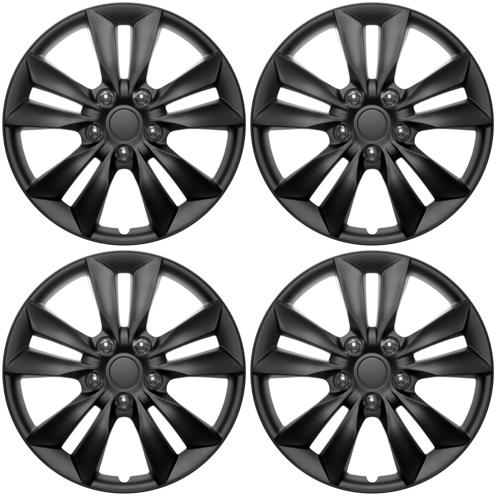 medium resolution of 4 pc set hub cap abs black matte 16 inch for oem steel wheel cover caps covers