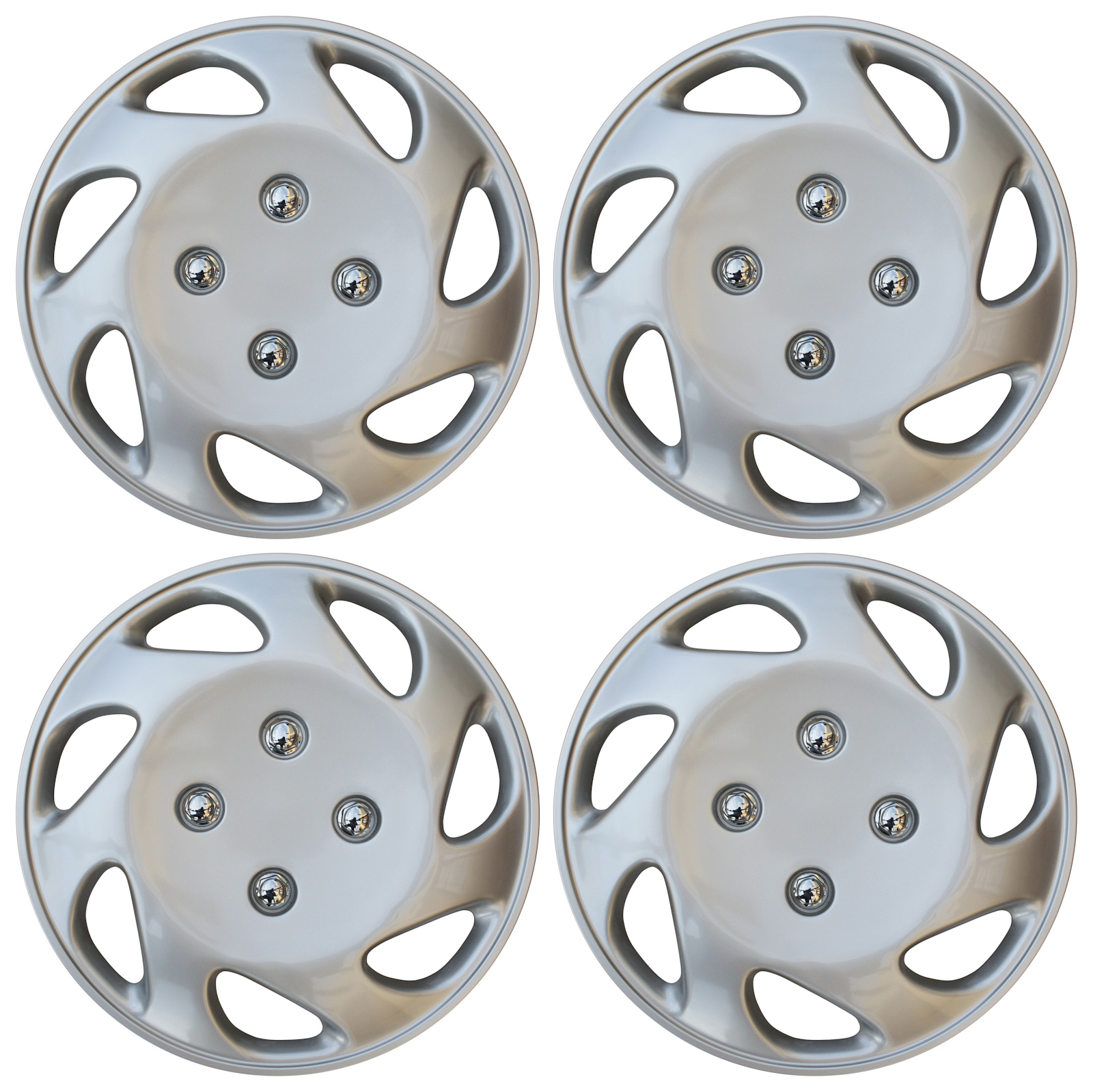 hight resolution of 4 pc universal hub cap abs silver 14 inch rim wheel cover caps fits honda civic