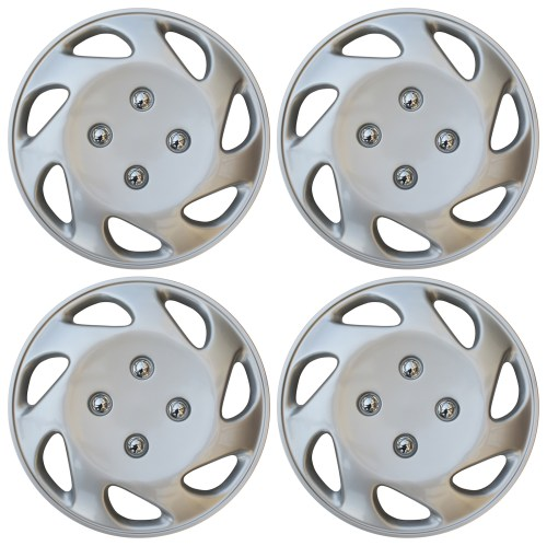 small resolution of 4 pc universal hub cap abs silver 14 inch rim wheel cover caps fits honda civic