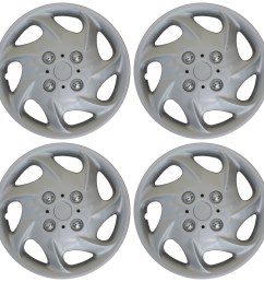 4 pc new universal hubcaps abs silver 15 inch wheel cover hub caps covers cap [ 1600 x 1599 Pixel ]
