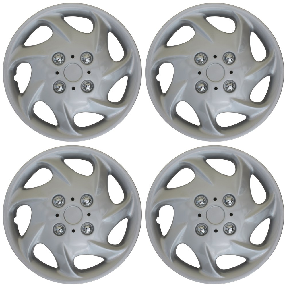 medium resolution of 4 pc new universal hubcaps abs silver 15 inch wheel cover hub caps covers cap