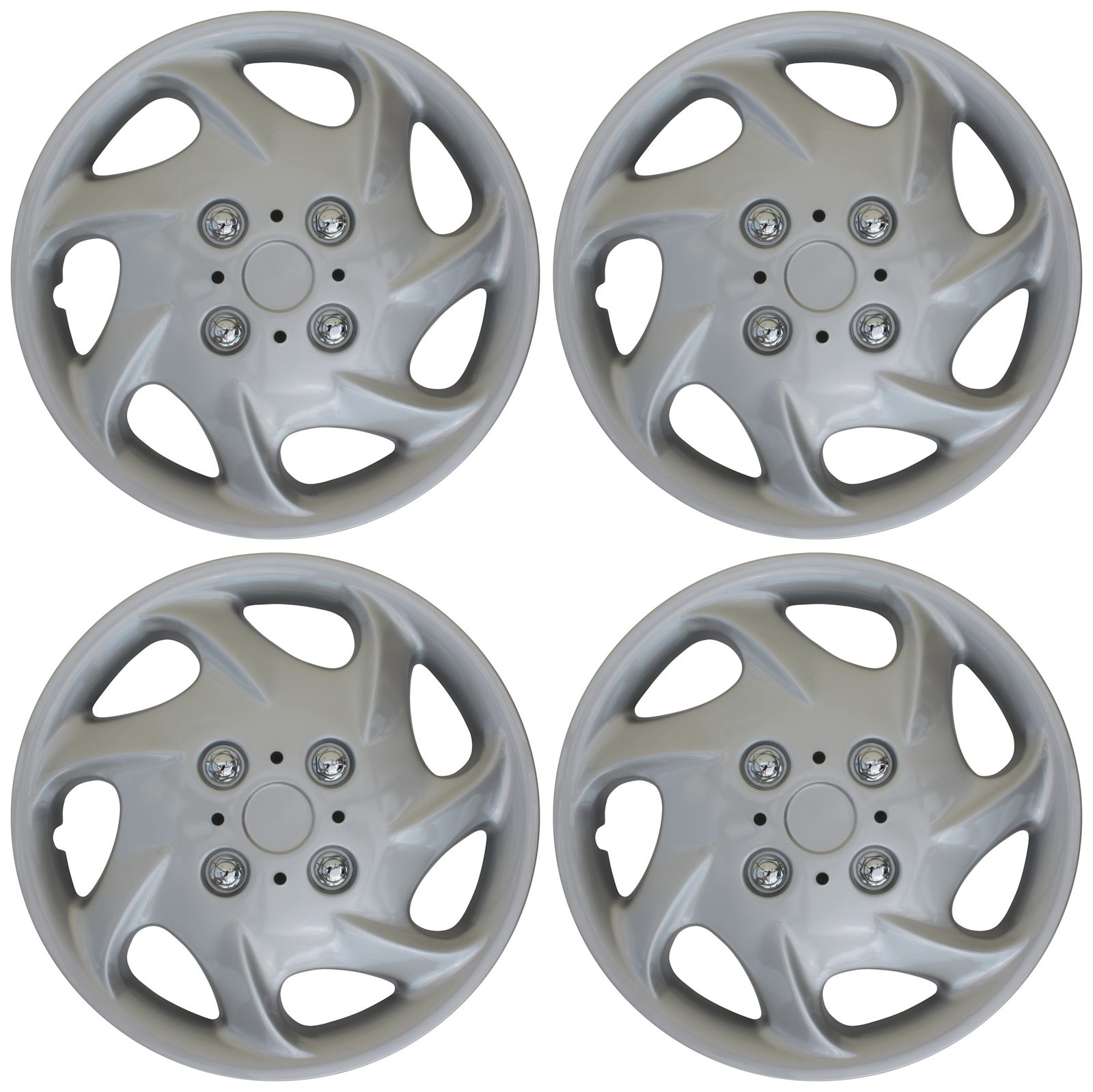 hight resolution of 4 pc new universal hubcaps abs silver 15 inch wheel cover hub caps covers cap