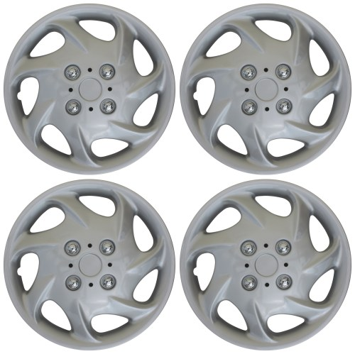 small resolution of 4 pc new universal hubcaps abs silver 15 inch wheel cover hub caps covers cap