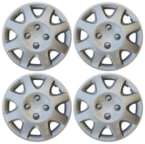 small resolution of 4 piece set 14 inch hub cap silver skin rim cover for steel wheel covers caps