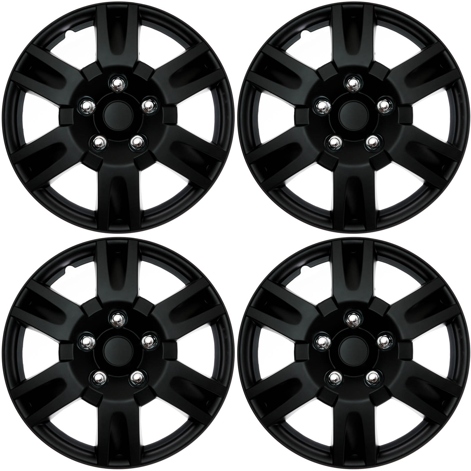 hight resolution of 4 pc set hub cap abs black matte 16 inch for oem steel wheel cover caps covers