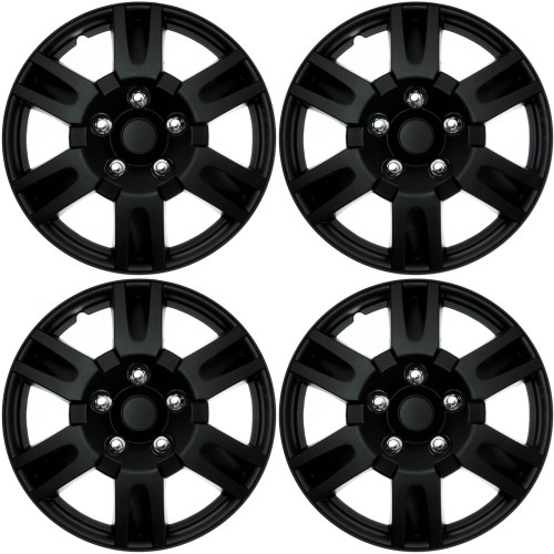 small resolution of 4 pc set hub cap abs black matte 16 inch for oem steel wheel cover caps covers