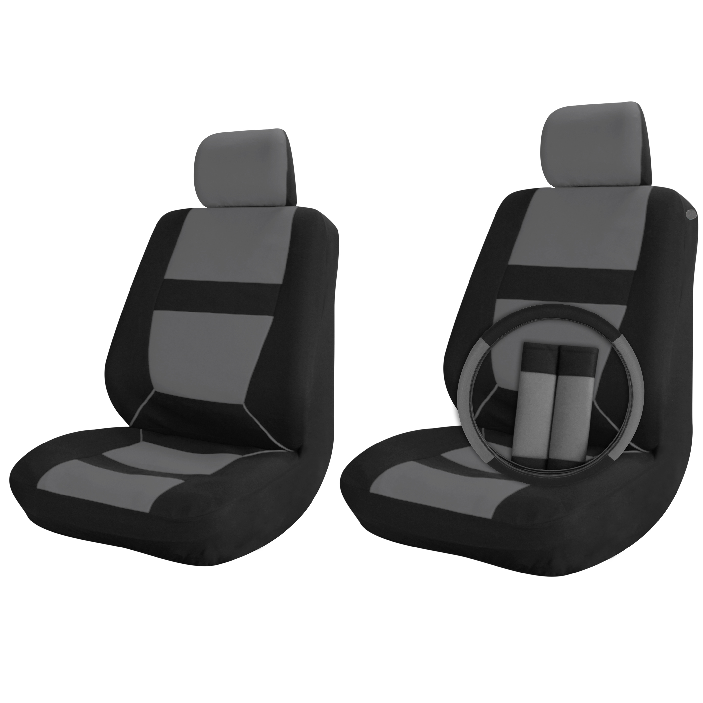 grey bucket chair alera elusion car seat covers black 9pc set for front
