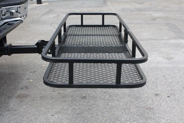IRON FIST 60quot Folding CARGO CARRIER Basket Hitch Hauler