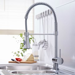 Pull Out Spray Kitchen Faucet Aluminum Cabinets Modern Sink Basin Mixer Tap With Swivel Spout Pot Rinser 5051752196195 Ebay