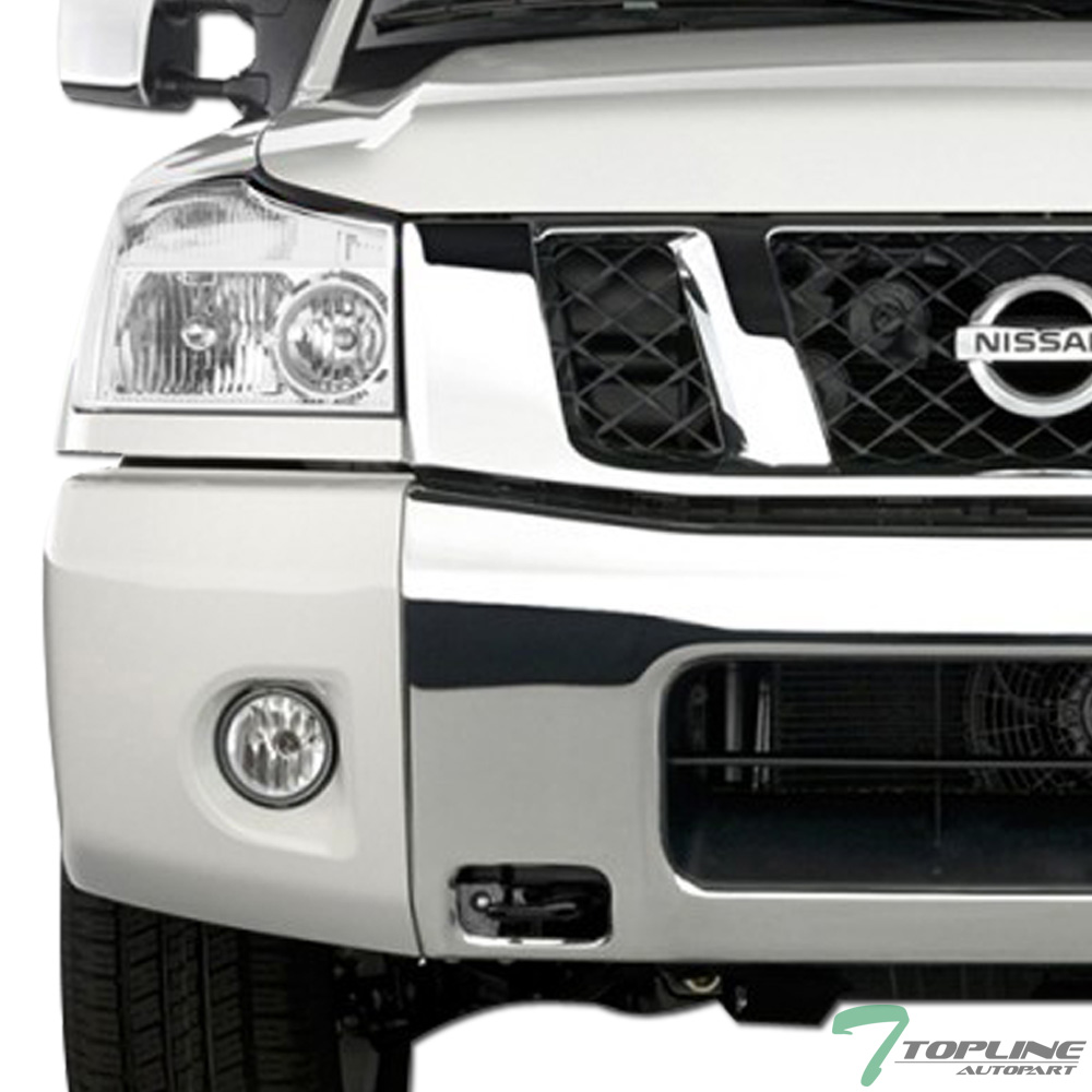 medium resolution of details about topline for 2004 2015 nissan titan 05 armada chrome clear headlights signal nb