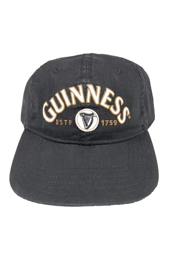 Guinness Baseball Cap Black Stout Est 1759 Adjustable