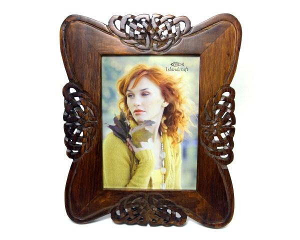 Celtic Knot Frame Hand Carved Wood 5x7 Irish