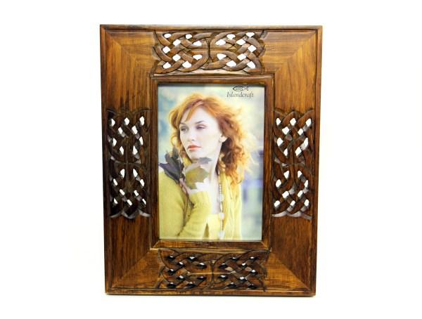 Celtic Knot Wooden Frame - Hand Carved 4x6
