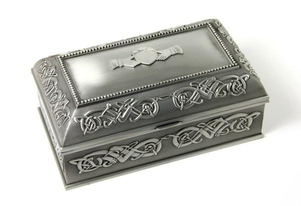 Claddagh Pewter Jewelry Box