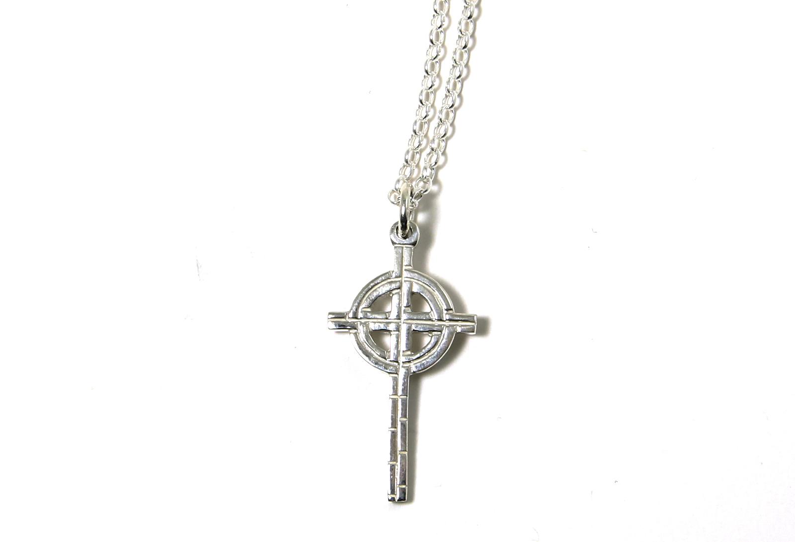 Old St Pats Cross Necklace Medium Pendant 18