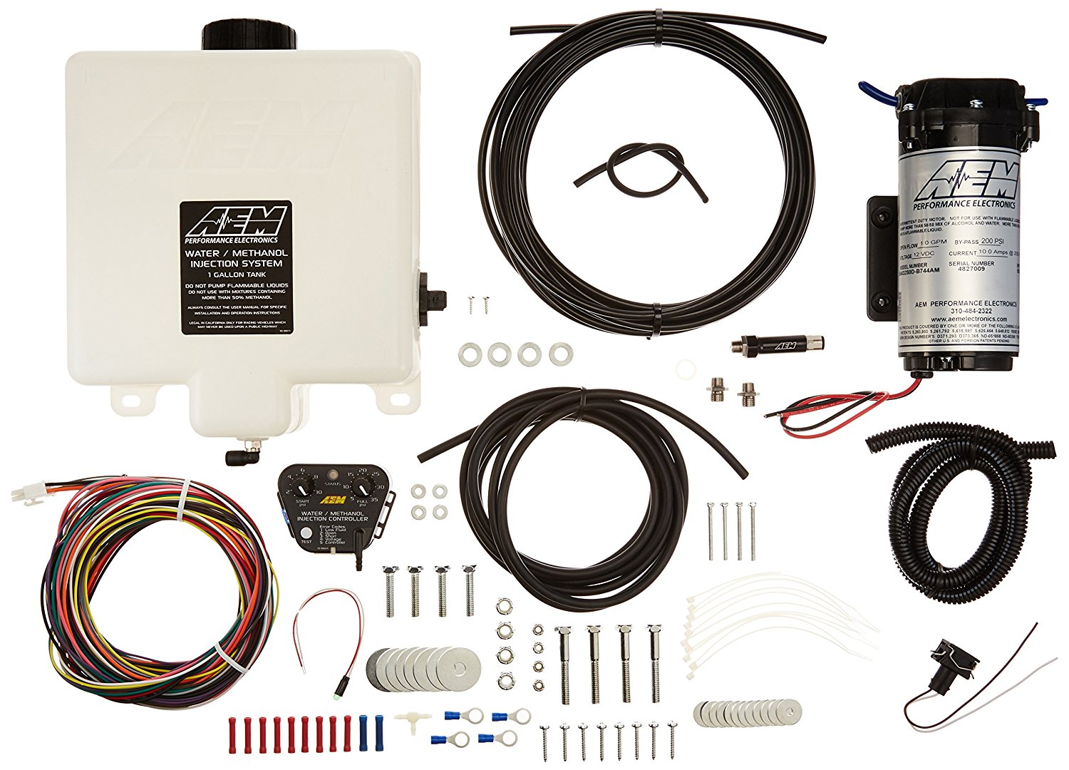 hight resolution of details about genuine aem 30 3300 water methanol injection kit 1 gallon tank v2 w map sensor