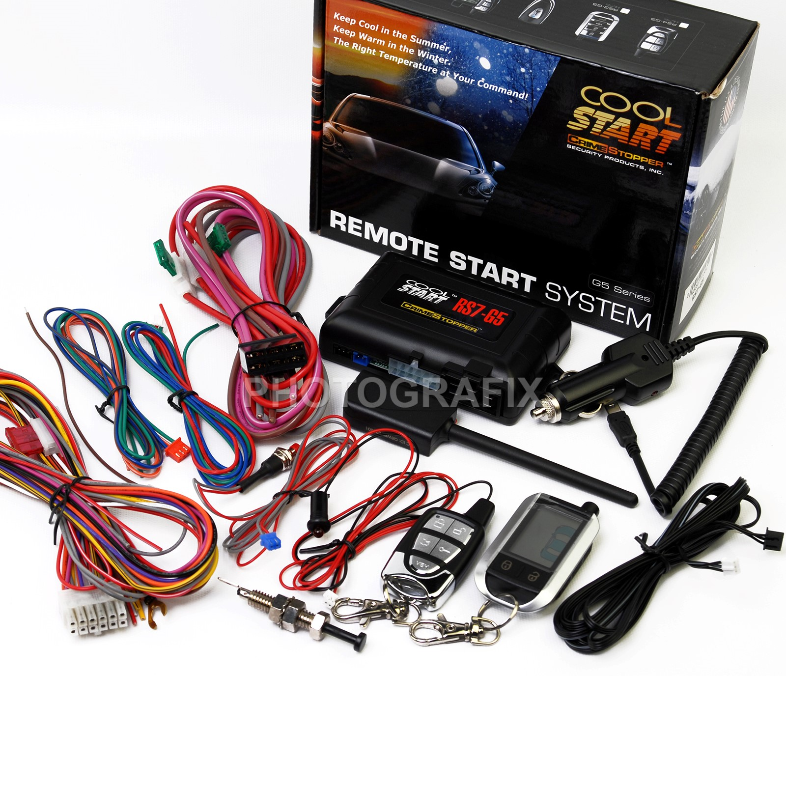 medium resolution of crimestopper rs7 g5 2 way lcd remote start and keyless entry with trunk release