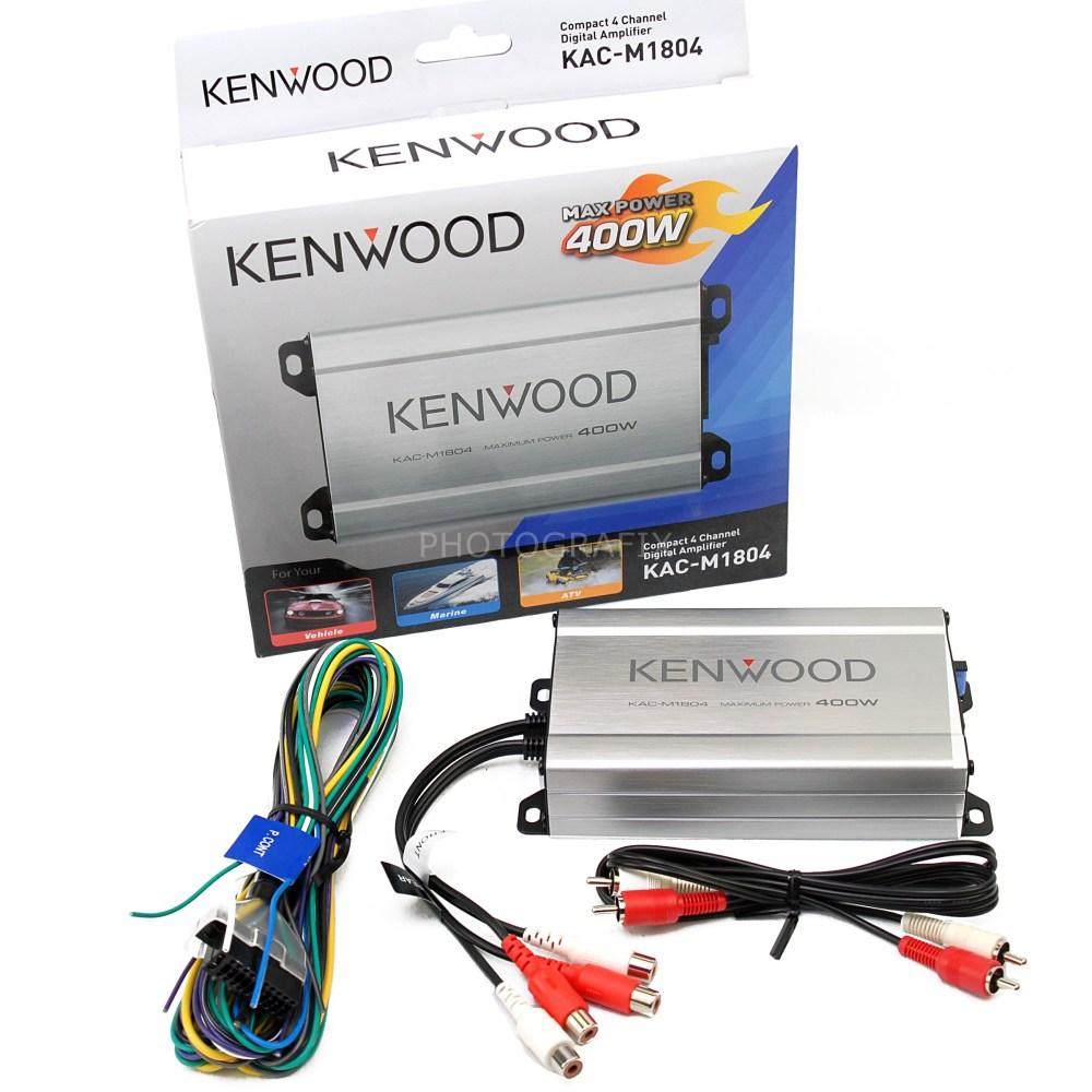 medium resolution of kenwood kac m1804 compact 4 channel digital car boat or motorcycle kenwood amp wiring harness diagram kenwood amp wiring diagram