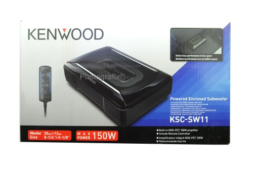 small resolution of kenwood ksc sw11 150w compact powered subwoofer w bass remote kscsw11