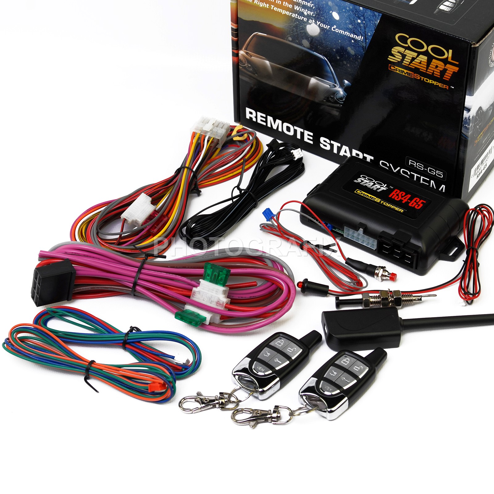 crimestopper rs4 g5 1 way remote start keyless entry system with trunk release [ 1600 x 1600 Pixel ]